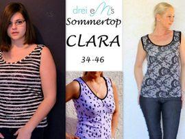 Foto zu Schnittmuster Sommertop Clara von drei eMs