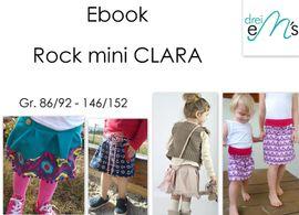 Foto zu Schnittmuster Rock mini Clara von drei eMs