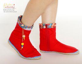 Foto zu Schnittmuster Espadrilles Stiefel von Frau Scheiner