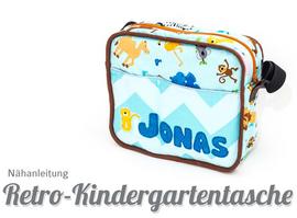 Foto zu Schnittmuster Retro-Kindergartentasche Deluxe Edition von Kubischneck