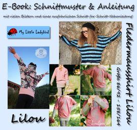 Foto zu Schnittmuster Fledermausshirt Lilou von My Little Ladybird