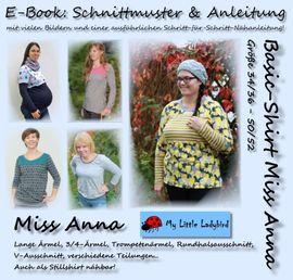 Foto zu Schnittmuster Basic-Shirt Miss Anna von My Little Ladybird