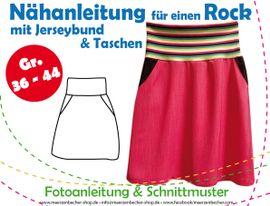 Foto zu Schnittmuster Rock mit Jerseybund & Taschen von Märzenbecher
