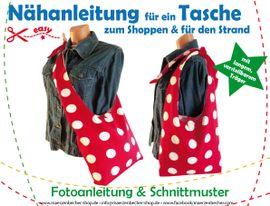 Foto zu Schnittmuster Tasche zum Shoppen & für den Strand von Märzenbecher