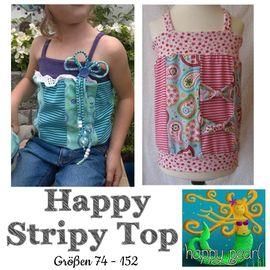Foto zu Schnittmuster Happy Stripy Top von Happy Pearl