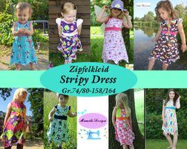 Foto zu Schnittmuster Zipfelkleid Stripy Dress von Mamilu Design
