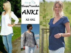 Foto zu Schnittmuster Bluse/Tunika Anki von drei eMs
