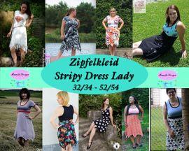 Foto zu Schnittmuster Zipfelkleid Stripy Dress Lady von Mamilu Design