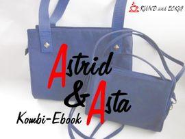 """Produktfoto von RUND und ECKIG für Kombi Ebook Kombi-Ebook Taschen """"Astrid"""" & """"Asta"""""""