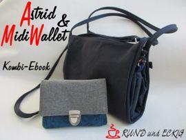 """Produktfoto von RUND und ECKIG für Kombi Ebook Kombi-Ebook Tasche """"Astrid"""" & """"MidiWallet"""""""