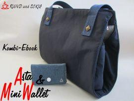 """Produktfoto von RUND und ECKIG für Kombi Ebook Kombi-Ebook Tasche """"Asta"""" & """"MiniWallet"""""""