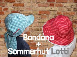 Produktfoto von Windschnittich für Kombi Ebook Bandana + Sommerhut Lotti