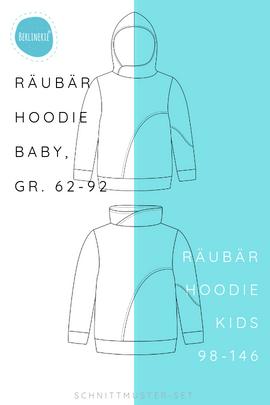 Produktfoto von Berlinerie für Kombi Ebook Räubärhoodie Baby+Kids Gr. 62-146