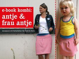 Produktfoto von STUDIO SCHNITTREIF für Kombi Ebook FRAU ANTJE & ANTJE Jerseyröcke im Partnerlook