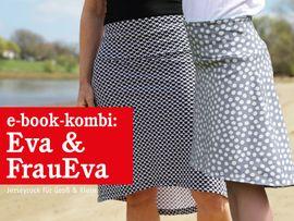 Produktfoto von STUDIO SCHNITTREIF für Kombi Ebook FRAU EVA & EVA Jerseyröcke mit Krempelbund