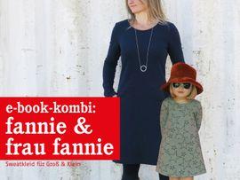 Produktfoto von STUDIO SCHNITTREIF für Kombi Ebook FRAU FANNIE & FANNIE Sweatkleider im Partnerlook