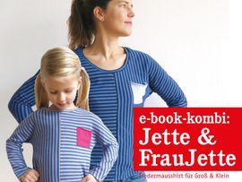 Produktfoto von STUDIO SCHNITTREIF für Kombi Ebook FRAU JETTE & JETTE Fledermausshirts im Partnerlook