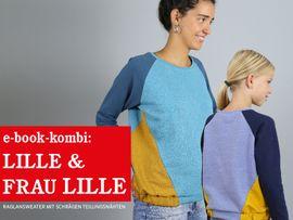 Produktfoto von STUDIO SCHNITTREIF für Kombi Ebook FRAU LILLE & LILLE Raglansweater im Partnerlook