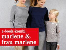 Produktfoto von STUDIO SCHNITTREIF für Kombi Ebook FRAU MARLENE & MARLENE Shirts im Partnerlook