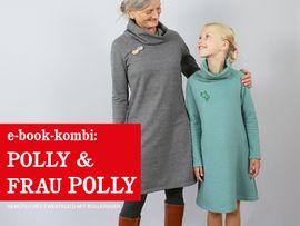 Produktfoto von STUDIO SCHNITTREIF für Kombi Ebook FRAU POLLY & POLLY Rollkragenkleider im Partnerlook