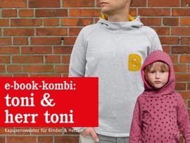 Produktfoto von STUDIO SCHNITTREIF für Kombi Ebook HERR TONI & TONI  Kapuzensweater im Partnerlook