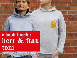 Produktfoto von STUDIO SCHNITTREIF für Kombi Ebook HERR TONI & FRAU TONI  Kapuzensweater im Partnerlook