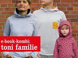 Produktfoto von STUDIO SCHNITTREIF für Kombi Ebook TONI FAMILIE  Kapuzensweater im Partnerlook