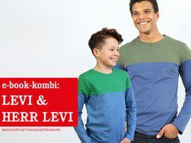 Produktfoto von STUDIO SCHNITTREIF für Kombi Ebook HERR LEVI & LEVI Shirts im Partnerlook
