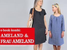 Produktfoto von STUDIO SCHNITTREIF für Kombi Ebook AMELAND und FRAU AMELAND • Kleider im Partnerlook,  e-book Kombi