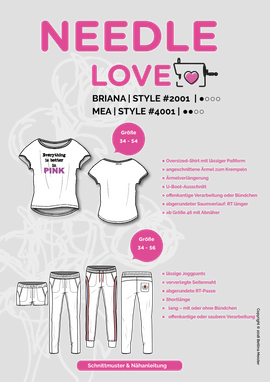Produktfoto von {NEEDLE LOVE} für Kombi Ebook BRIANA und MEA