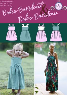 Produktfoto von Rosalieb & Wildblau für Kombi Ebook Kombi-Ebook Boho-Bandeau Damen und Kids