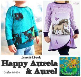 Produktfoto von Happy Pearl für Kombi Ebook Happy Aurela + Aurel - Tunika + Pullover
