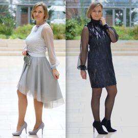 Produktfoto von drei eMs für Kombi Ebook Shirt/Kleid LACONA + Rock CLARIE XS-XXXL