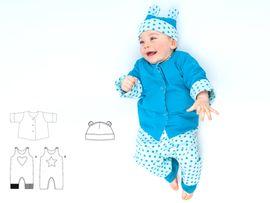 Produktfoto von Pattern 4 kids für Kombi Ebook Alberto, Flavio und Orso - Strampler, Jacke und Mütze