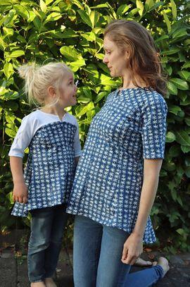Produktfoto von Unendlich schön - Design Anita Lüchtefeld für Kombi Ebook Ginger Mama Kind Raglan Kleiderschnitt