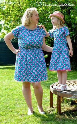Produktfoto von textilsucht für Kombi Ebook Kleid Federleicht für Mama und Kind