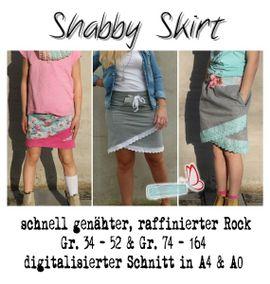 Produktfoto von MiToSa-Kreativ für Kombi Ebook Kombi E-Book Shabby Skirt Ladies und Kids Gr. 34-52 / Gr. 74 - 164