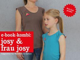 Produktfoto von STUDIO SCHNITTREIF für Kombi Ebook FRAU JOSY & JOSY Shirts im Partnerlook