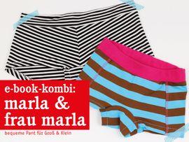 Produktfoto von STUDIO SCHNITTREIF für Kombi Ebook FRAU MARLA & MARLA Pants im Partnerlook