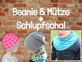 Produktfoto von Windschnittich für Kombi Ebook Beanie & Mütze + Schlupfschal
