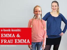 Produktfoto von STUDIO SCHNITTREIF für Kombi Ebook EMMA & FRAU EMMA Raglanshirts im Partnerlook
