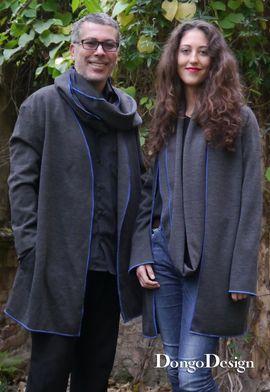 Produktfoto von DongoDesign für Kombi Ebook Loop-Strickjacke Johanna und Johannes 2 in 1