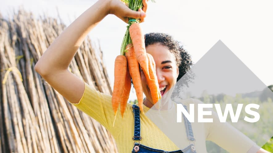 News: Farmer-Mädchen mit Karotten