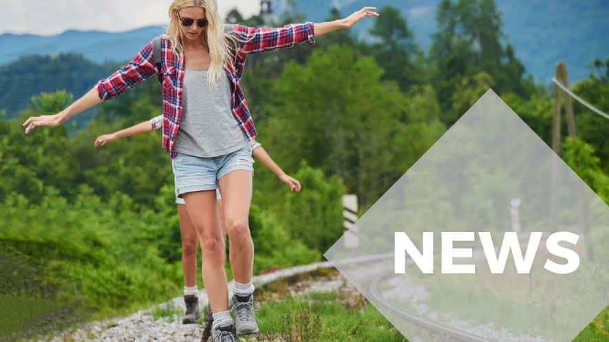 MS News: Mädchen balancieren auf Schienen