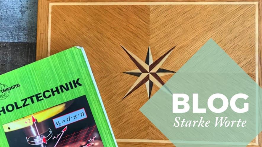 Holzbox, Buch und Störer Blog Starke Worte
