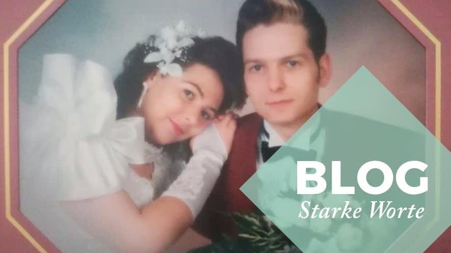 Hochzeitsbild von Nicole und ihrem Mann