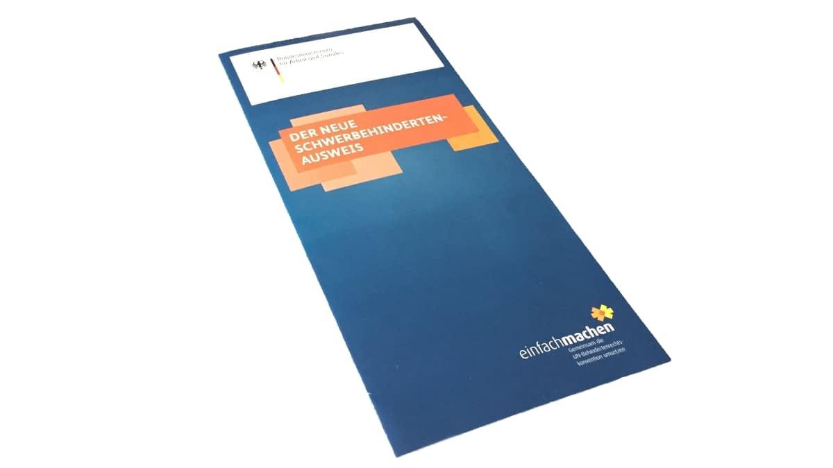 Broschüre Schwerbehindertenausweis
