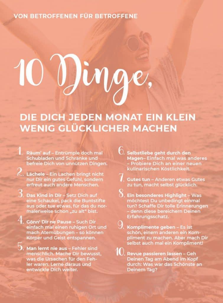 10 Dinge, die dich glücklicher machen