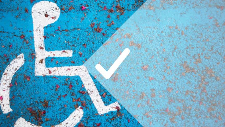 Parkfläche für Menschen mit Behinderung