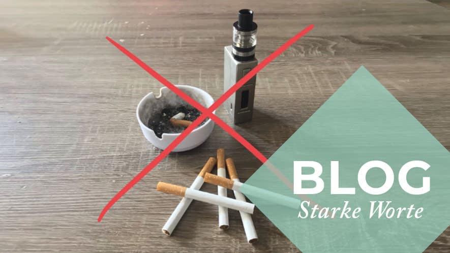 E-Zigarette und Aschenbecher